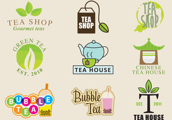 Tea Shop Logos - Free vector #339413