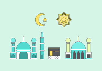 Free Makkah Vector Illustration #1 - Free vector #339463