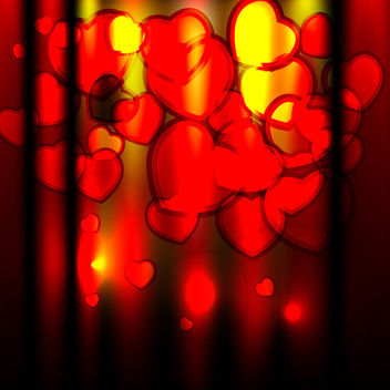 Shiny valentines day vector background - vector gratuit #339613