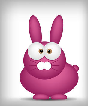 Funny Easter Bunny - Free vector #339703