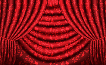 Red vector curtain with vintage texture - Kostenloses vector #339713