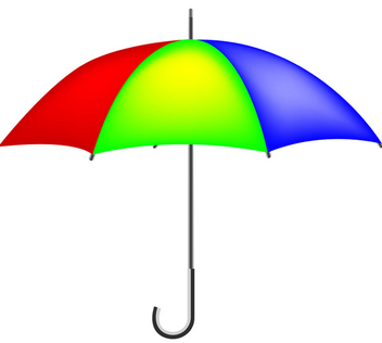 Colorful Umbrella - Free Vector Graphics - vector gratuit #339753