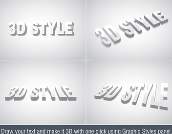 3d Text Effect - vector #339833 gratis