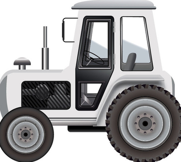 White Tractor - Free vector #339963