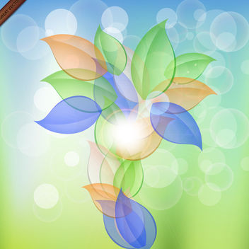 Artistic Floral Vector Abstraction - vector gratuit #339983