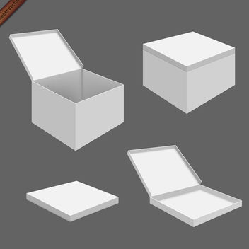 White Packaging Box Templates - Free vector #339993