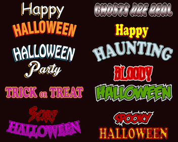 Halloween Text Styles - vector gratuit #340103
