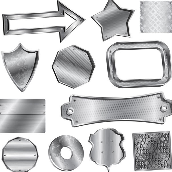 Vector Metal Badges - vector gratuit #340183