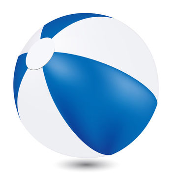 Vector Beach Ball - vector gratuit #340253