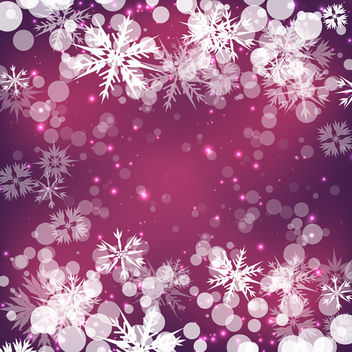 Winter Bokeh Background - vector gratuit #340433