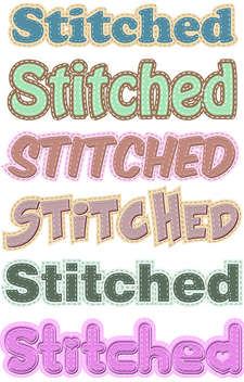 Stitched Graphic Styles - vector gratuit #340463