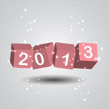 New Year Numbers - vector gratuit #340473