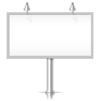 White Billboard - vector gratuit #340593
