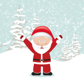Santa with Hands Up - vector gratuit #340773