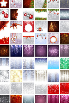 Christmas Background Set - Free vector #340783