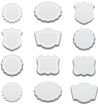 White 3D Labels - vector gratuit #340843