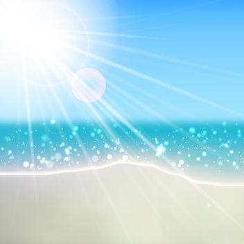 Vector Summer Beach - vector gratuit #340863
