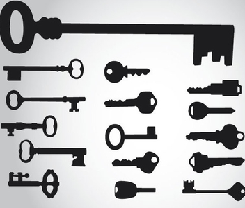 16 Key Silhouettes - Free vector #340933