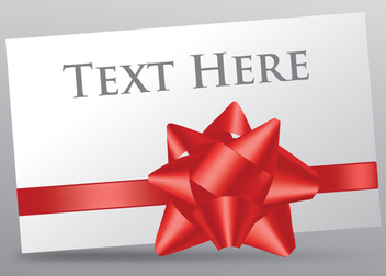 Gift Card Ribbon - vector gratuit #340983