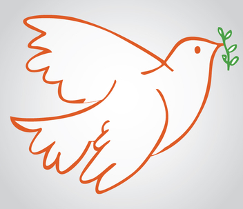 Dove Peace Symbol - vector #341013 gratis