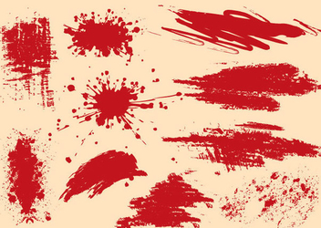 Grungy Splashed Splatters - Free vector #341143
