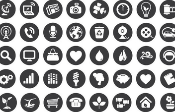 Eco Technology Flat Icons - бесплатный vector #341163