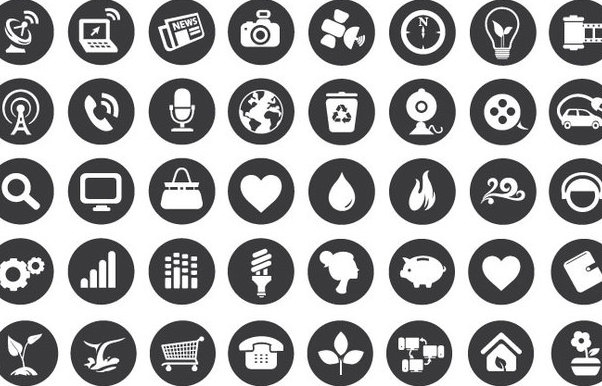 Eco Technology Flat Icons Free Vector Download 341163