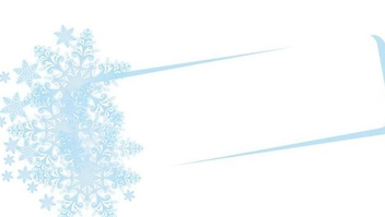 Snowflakes Floral Frame Banner - Kostenloses vector #341203