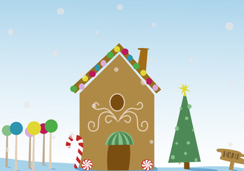 Free Christmas Gingerbread House Vector - vector #341363 gratis