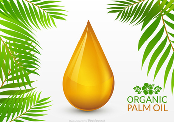 Free Palm Oil Drop Vector - Kostenloses vector #341383