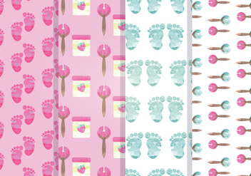 Vector Seamless Patterns - Free vector #341413