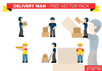 Delivery Man Free Vector Pack - Kostenloses vector #341593