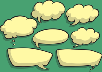 Speech Bubble Vectors - vector gratuit #341653