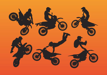 Dirt Bike Vector - vector gratuit #341663