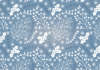 Winter Holly Vector Seamless Pattern - Free vector #341723