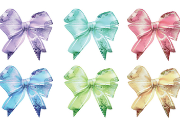 Vector Watercolor Ribbons - Kostenloses vector #341763