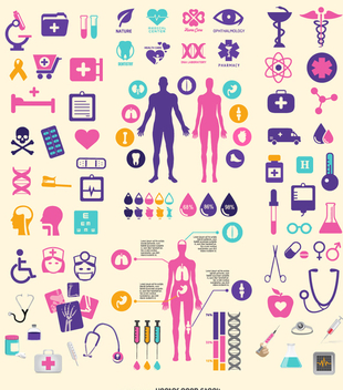 Medical element set - vector gratuit #341823