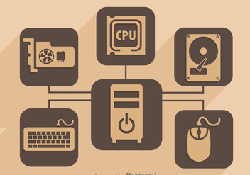 Personal Computer Hardware - Free vector #341923