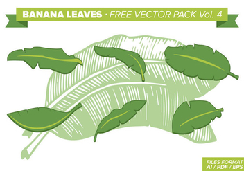 Banana Leaves Free Vector Pack Vol. 4 - бесплатный vector #342213