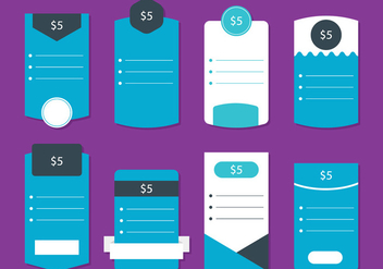 Blue Pricing Table - Kostenloses vector #342223
