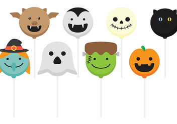 Halloween Cake Pops - Free vector #342243