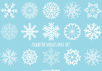 Assorted Snowflakes Set - Free vector #342283