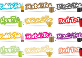 Tea Titles - vector gratuit #342313