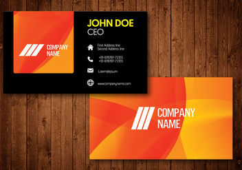 Creative Business Card with Glow colorful background - бесплатный vector #342323