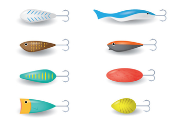 Fish Hook with Float - vector #342333 gratis