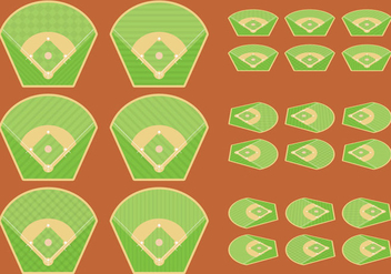 Baseball Diamonds - vector gratuit #342353