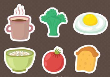 Breakfast Menu Icons - Free vector #342383
