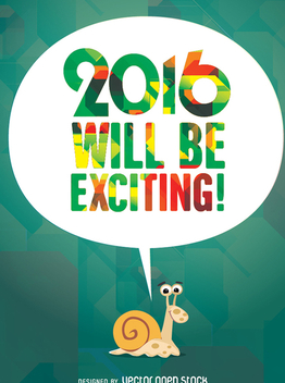 2016 will be exciting - vector #342423 gratis