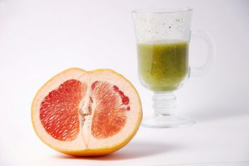 Kiwi and citrus fresh juice in two glasses - Free image #342523