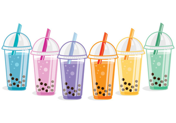 Bubble Tea Vectors - vector gratuit #342653